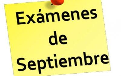 Estándares evaluables para las recuperaciones de septiembre.