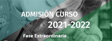 Admisión de nuevos alumnos de ESO y Bachillerato – Fase Extraordinaria