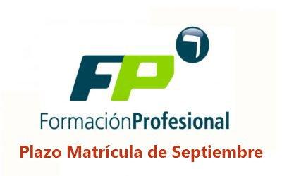 Abierto el plazo de matriculación para alumnos de FP